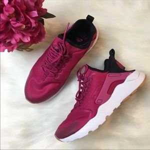 Nike Shoes - Nike Air Huarache Run Ultra Sport Fuchsia/Black
